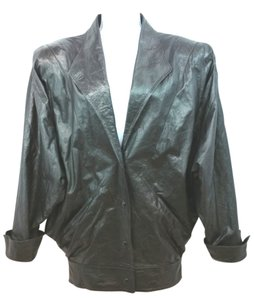 Céline Black Leather Jacket