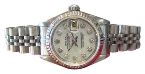 Rolex Ladies Rolex Datejust Stainless Steel White Gold Mother-of-pearl Dial Watch