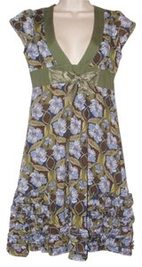Free People short dress Multi-color floral on Tradesy