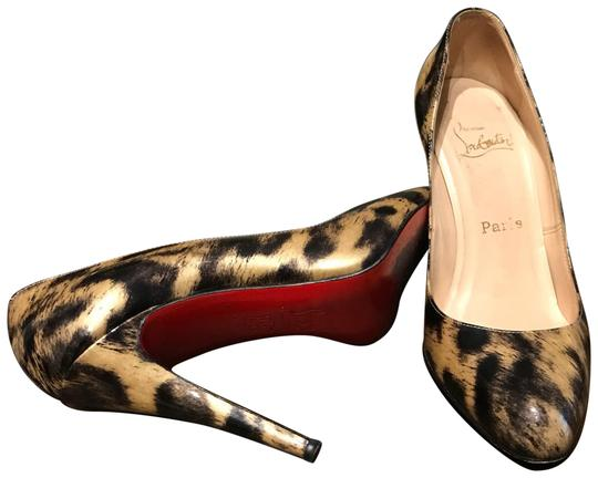 Preload https://item1.tradesy.com/images/christian-louboutin-leopard-print-in-patent-leather-decollete-pumps-size-us-75-143050-0-4.jpg?width=440&height=440