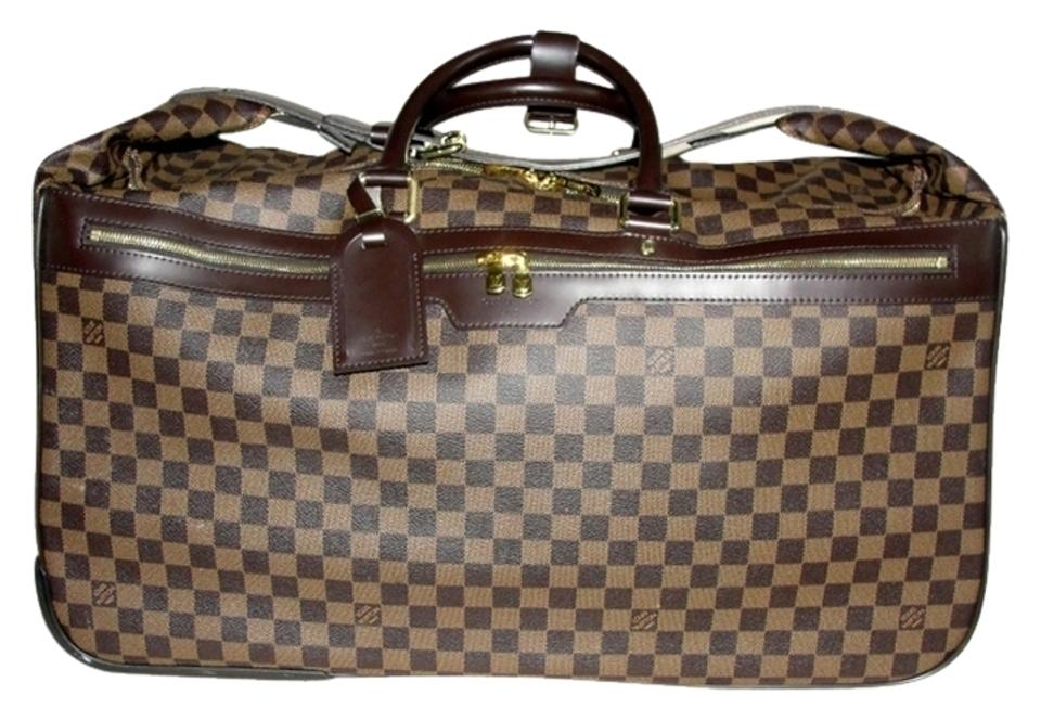 b547e1c4a6f0 Louis Vuitton Eole Rolling Luggage Duffle Damier Ebene Brown Travel Bag  Image 0 ...