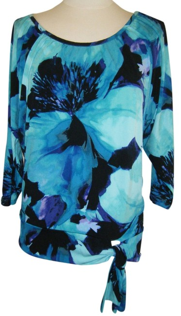 JM Collection Top blue green