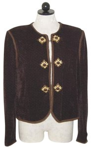 St. John Knit Jacket DARK BROWN Blazer