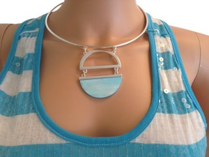 Other Silver and Aqua Choker
