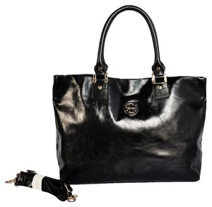 Tory Burch Leather Sold Out Tote in Black