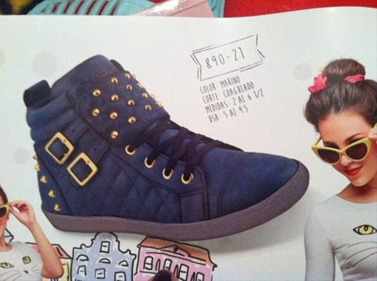 Other Studded navy blue w/ gold Athletic