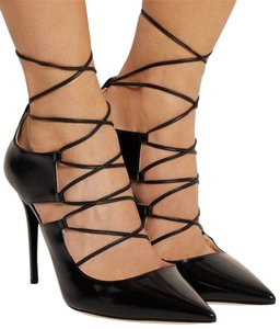 Jimmy Choo Hoops Lace Up Worn A Few Times See Pic Of Botoms Excellent Condition BLACK Pumps