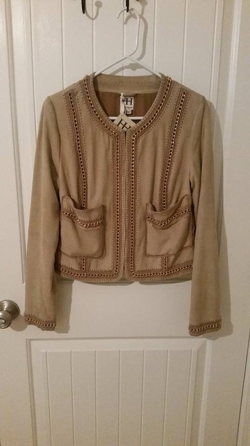 Haute Hippie Leather Goat Leather Chanel Chain Gold And Pink Gold Pink Soft Silk Luxury Saks Off Fifth Nordstrom Barneys High End Nude Leather Jacket