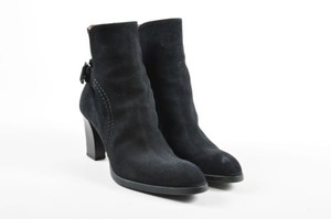 Tod's Tods Suede Leather Black Boots