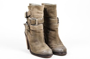 Ash Suede Ankle Harness Gray Boots