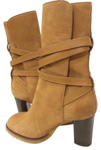 Tory Burch Textured Suede Tan Boots