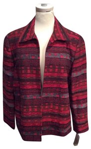 Alfred Dunner Red/Black/gray Blazer