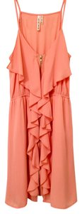 Hello Miss short dress Coral/peach Gold Hardware Ruffle Party on Tradesy