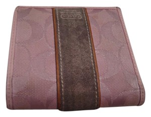 Coach Pink Coach bifold small wallet