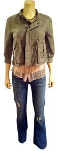 7 For All Mankind green Jacket
