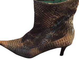 Nine West Green and Brown Snake skin Boots