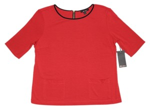 Ella Moss Ponte Top Red