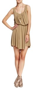 Free People short dress Khaki on Tradesy