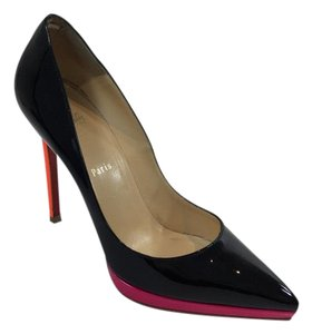 Christian Louboutin Black/Orange/Pink Pumps