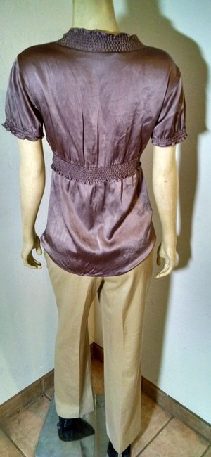 BCBGMAXAZRIA Silk Size Small Cap Sleeves Stretchy P958 Top purple