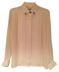 Other Polyester Pleated Top beige