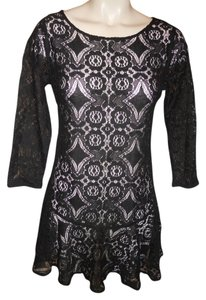 Free People Lace Sheer Coctail Night Out Dress