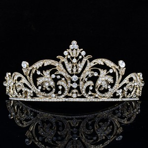 Bridal Gold Plated Austrian Crystal Tiara