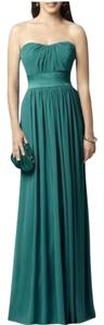 Dessy Strapless Full Length Chiffon Dress