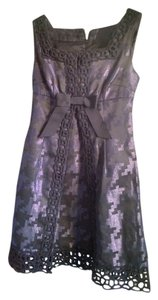 Anna Sui Houndstooth Lace Trim Dress