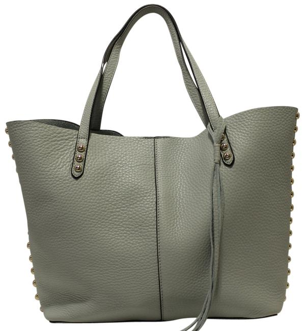 Item - Unlined Pale Sage / Light Gold Leather Tote