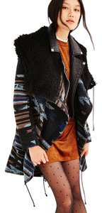 Urban Outfitters Blanket Tribal Wool Blend Pea Coat