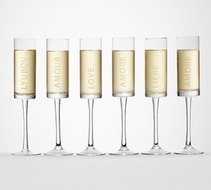 Amore Champagne Flutes