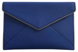 Rebecca Minkoff Cobalt Wallet Envelope Zipper Blue Clutch