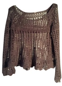 Free People Crochet Boho Bohemian Sweater