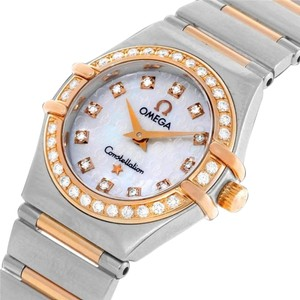 Omega Omega Ladies Constellation 95 My Choice Mini Watch - Stainless Steel, 18K Rose Gold & Diamonds