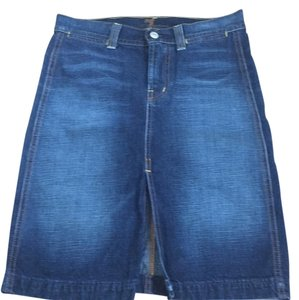 7 For All Mankind Skirt Blue jean