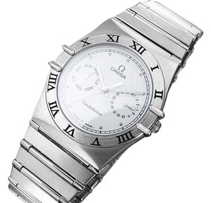 Omega Omega Constellation Mens 35mm Day-Date Quartz Watch, White Dial - Stainless Steel