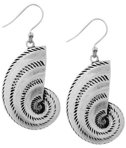 Lucky Brand Lucky Brand Silver Tone Nautilus Shell Dangle Earrings JLRY4481 NWT $29