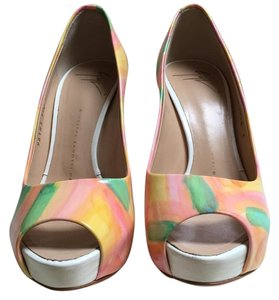Giuseppe Zanotti Floral Club Pink, orange, green Pumps