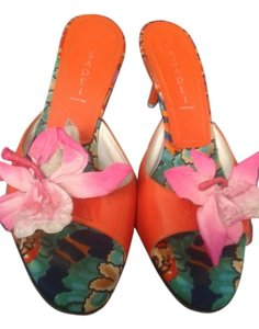 Casadei Orange Mules