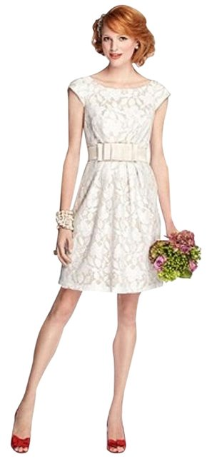 Item - Palomino / Ivory 5704 Mid-length Night Out Dress Size 4 (S)