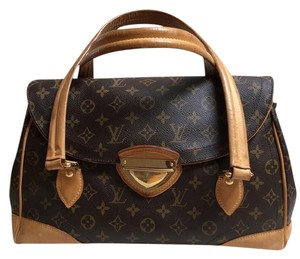 Louis Vuitton Travel Lv Gold Hardware Satchel in Brown