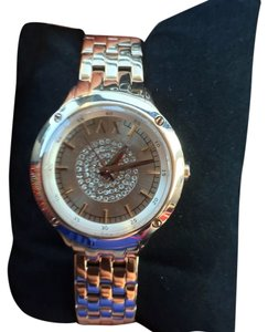 A X Armani Exchange New Armani Exchange AX5416 Women's Rose Gold Stainless Pave Dial Small Watch