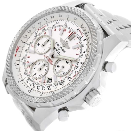 Breitling White Bentley Motors Chronograph Silver Dial