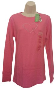 Share the Care Sport Breast Awareness Rhinestone T Shirt Pink