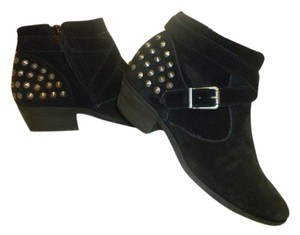 Other Suede Straps Stud Detail Buckle Detail black Boots