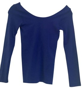 bebe Top Navy Blue