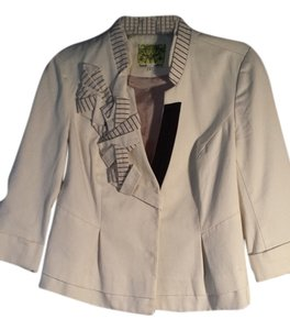 Anthropologie creme and black Blazer