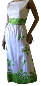 White green Maxi Dress by Gino Charles
