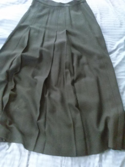 Item - Black Wool Long Voluminous with Pleats In Front Skirt Size 8 (M, 29, 30)